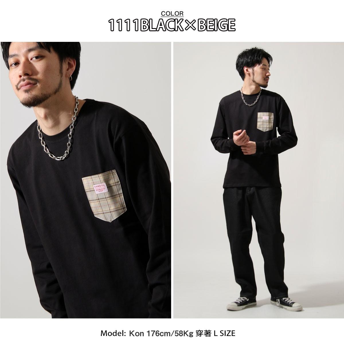 ZIP日本男裝 KANGOL聯名款長袖口袋T(12色)
