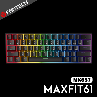 FANTECH MAXFIT61 60% RGB可換軸機械式鍵盤(MK857)-黑