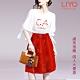 LIYO理優-MIT綁帶袖口小香風刺繡蕾絲裙襬優雅修身套裝裙O836001 product thumbnail 1