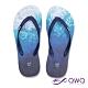 QWQ 男款休閒軟Q夾腳拖鞋-鞋帶保固-防滑耐磨-海灘拖鞋-海藍-藍(ABBC00304) product thumbnail 1