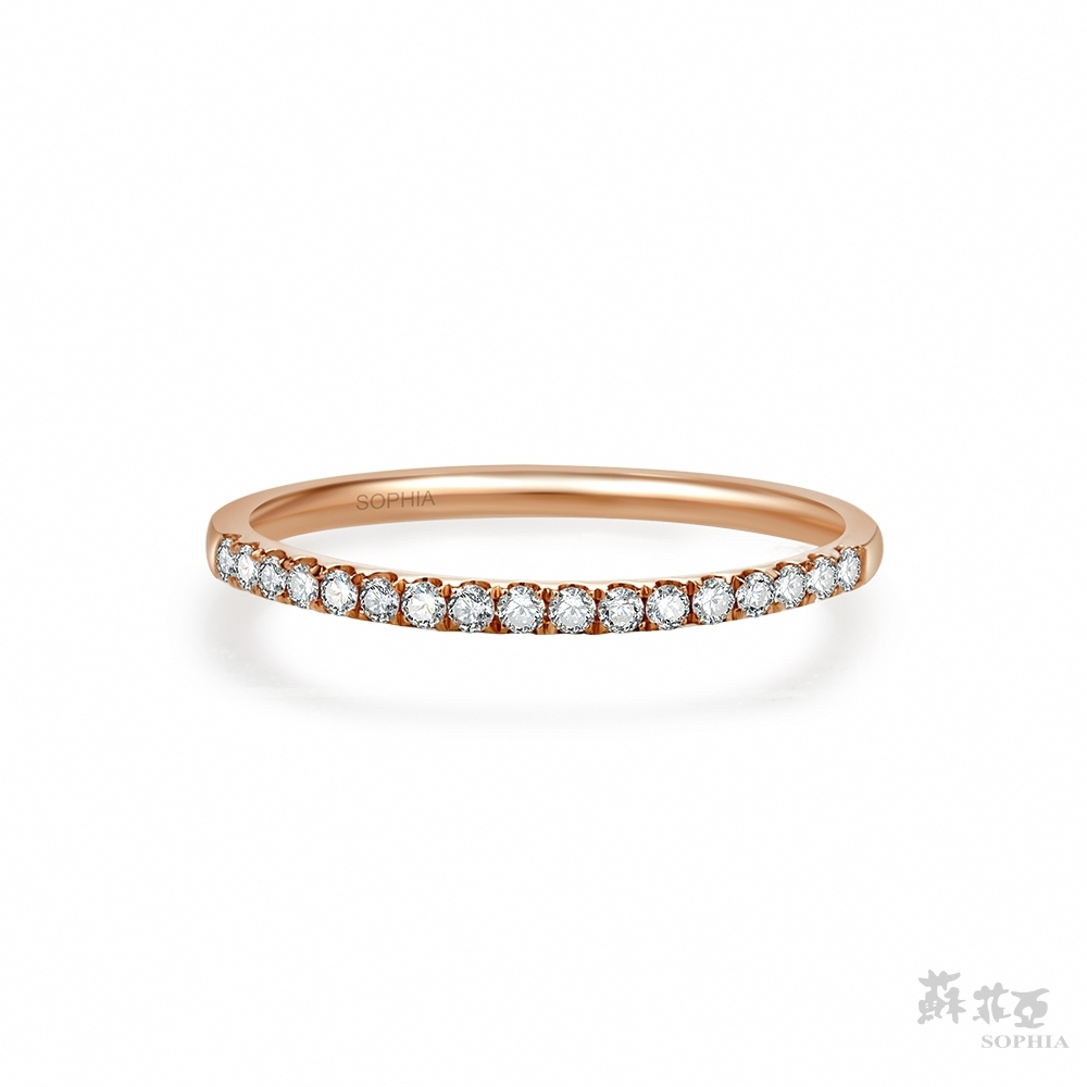 SOPHIA 蘇菲亞珠寶 - 無時無刻 14K玫瑰金 鑽石戒指