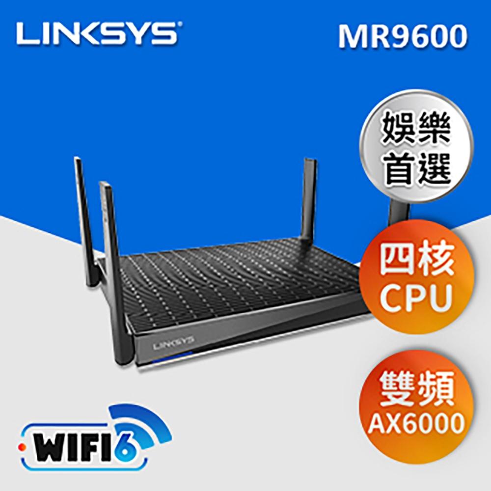 Linksys 雙頻 MR9600 Mesh WiFi 6 路由器(AX6000)