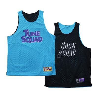 Nike 背心 Basketball Jersey 男女款 Space Jam 怪物奇兵 雙面穿 運動 藍黑 DJ3895-434