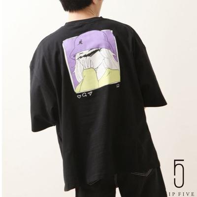 ZIP日本男裝 KANGOL別注IG風插畫印刷寬版短TEE (6色)