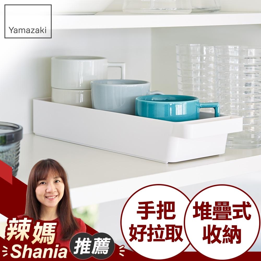 日本【YAMAZAKI】tower餐具收納盒(白)★居家收納/儲物架/置物架