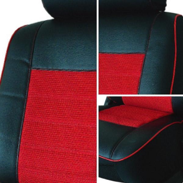 【葵花】量身訂做-汽車椅套-日式合成皮-賽車條紋-B款-轎車款1+2排