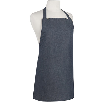NOW 平口單袋兒童圍裙(單寧藍)