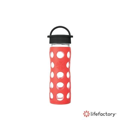 [下單送濾茶器] lifefactory 玻璃水瓶平口475ml-橘色(CLA-475-ORB)