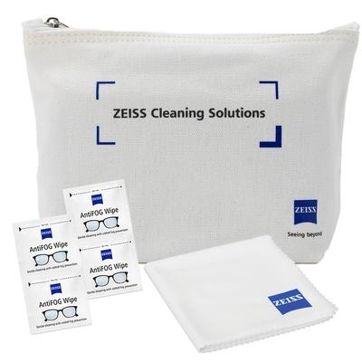 蔡司 Zeiss AntiFog Wipes 防霧拭鏡紙 100張 (含原廠帆布包) + 拭鏡布