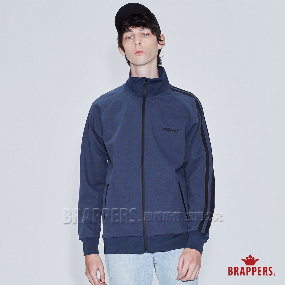 BRAPPERS 男款 立領休閒外套-藍