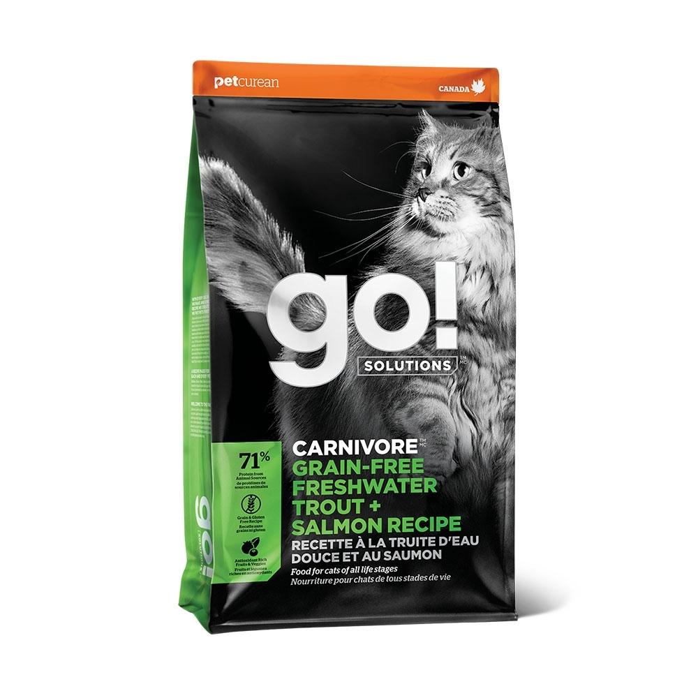 Go! 淡水鱒魚 高肉量 3磅 全貓 無穀天然糧