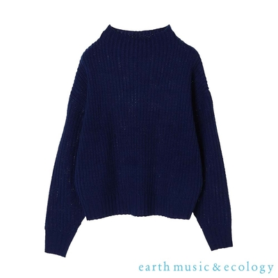 earth music 12色定番款粗針織上衣