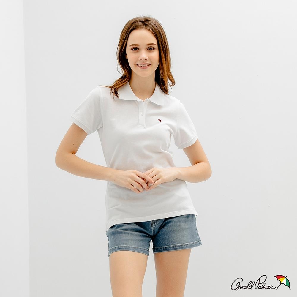 Arnold Palmer -女裝-小傘POLO衫-白色