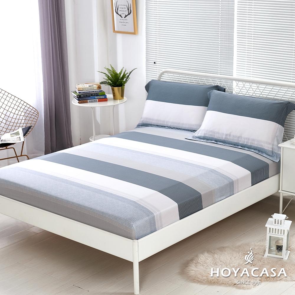 【HOYACASA 】100%天絲枕套床包三件組-多款任選(雙人) (時尚紐約)