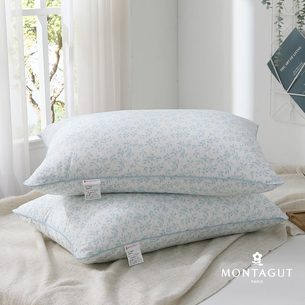 (買一送一)MONTAGUT-天絲萊賽爾纖維枕(蔓蔓藍)