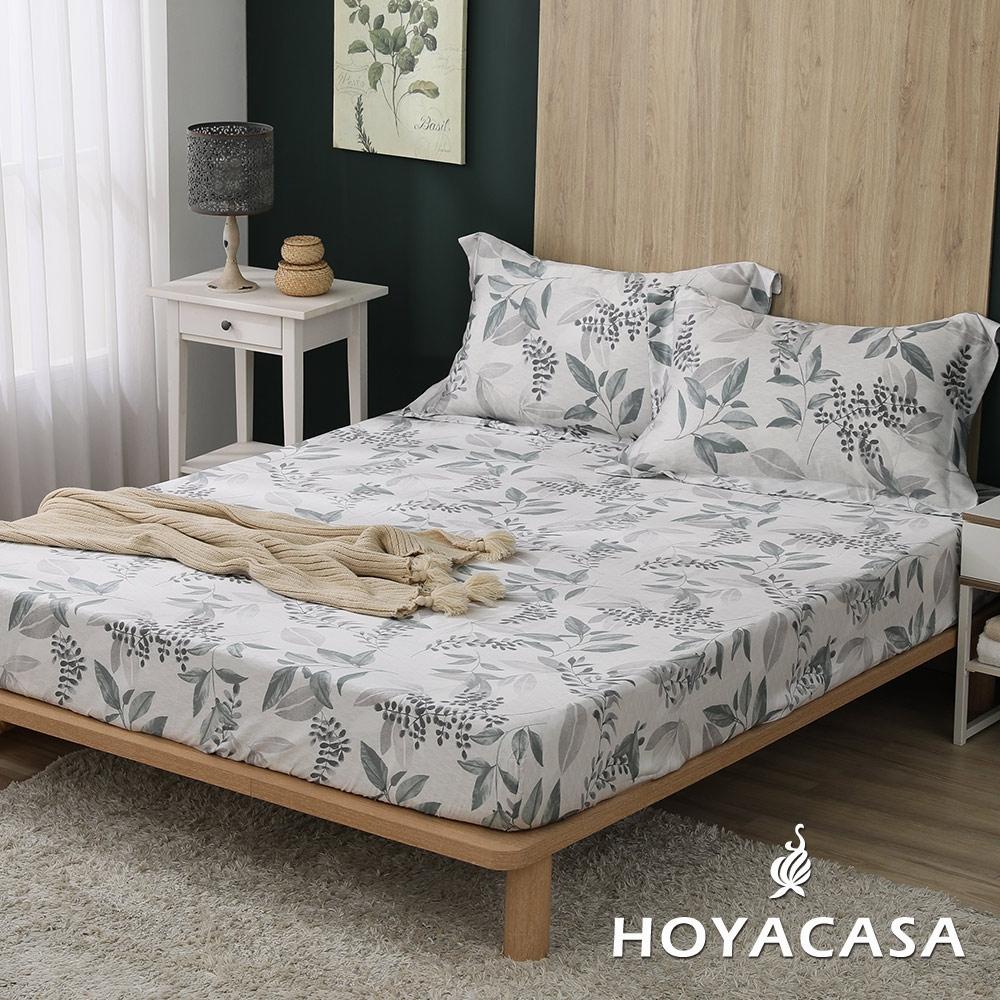 【HOYACASA 】100%天絲枕套床包三件組-多款任選(雙人) (韻味悠然)