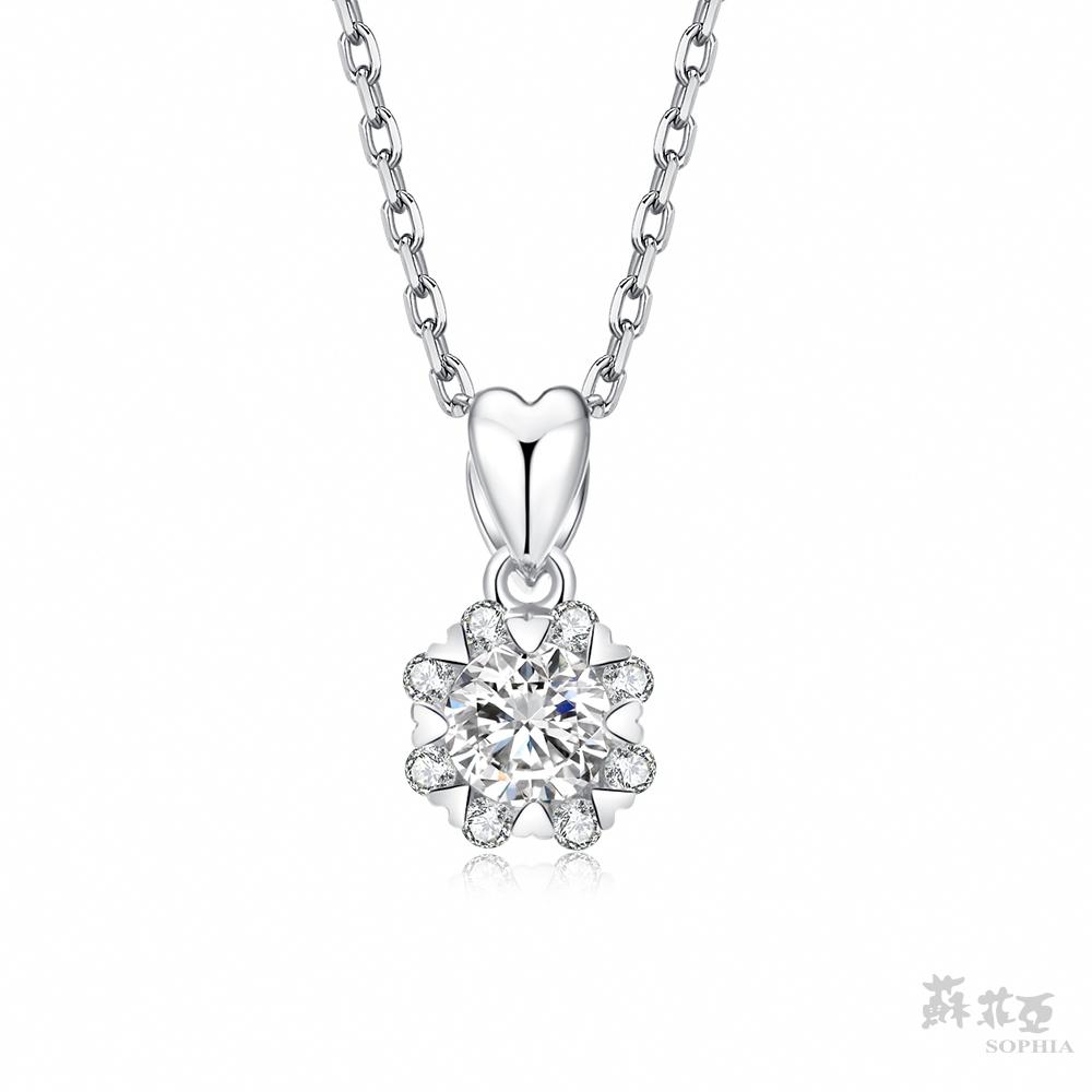 SOPHIA 蘇菲亞珠寶 - 費洛拉s 0.30克拉 18K白金 鑽石項鍊