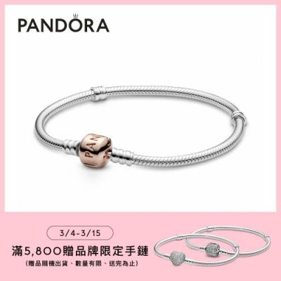 【Pandora官方直營】 Moments經典釦頭手鏈