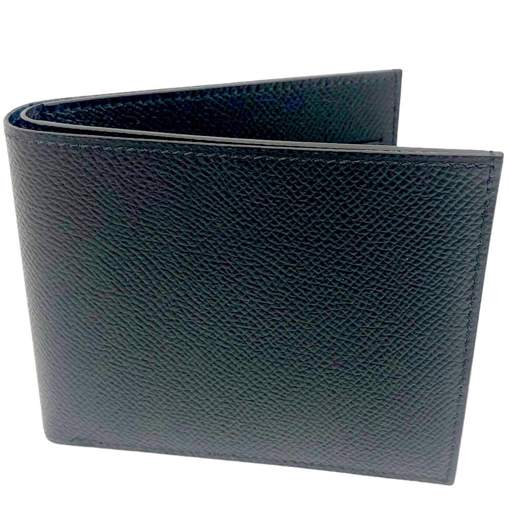 HERMES 經典限量款全皮絲巾短夾(黑)