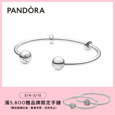 【Pandora官方直營】Moments開圈手環