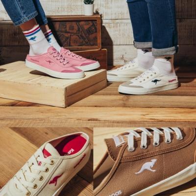 【時時樂限定-IG詢問哈燒款】KangaROOS 男女 BOSTON流行帆布穆勒鞋(7款任選)
