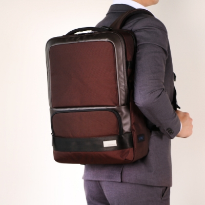 Samsonite RED HO-ONE 智慧型可拆卸筆電收納後背包15.6吋(深咖啡)