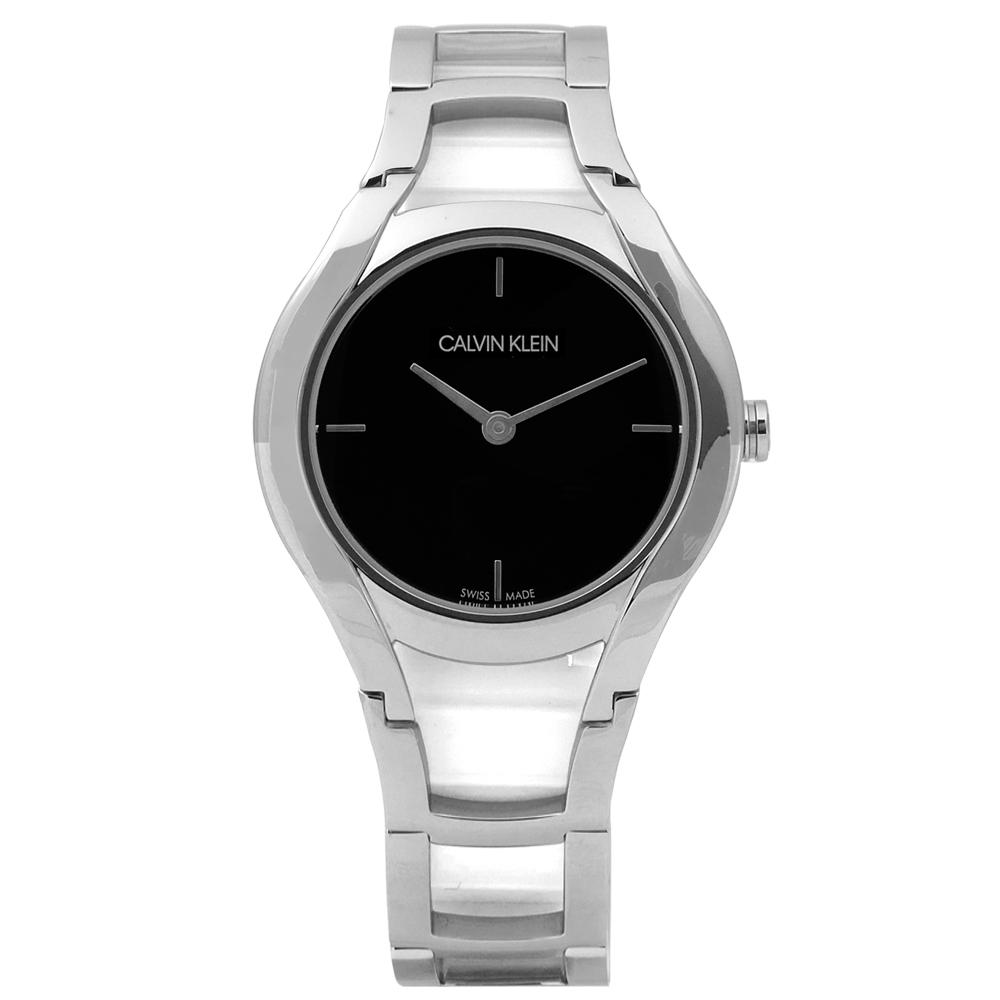 CK Stately當代優雅精緻不鏽鋼手錶 -黑色 /32mm