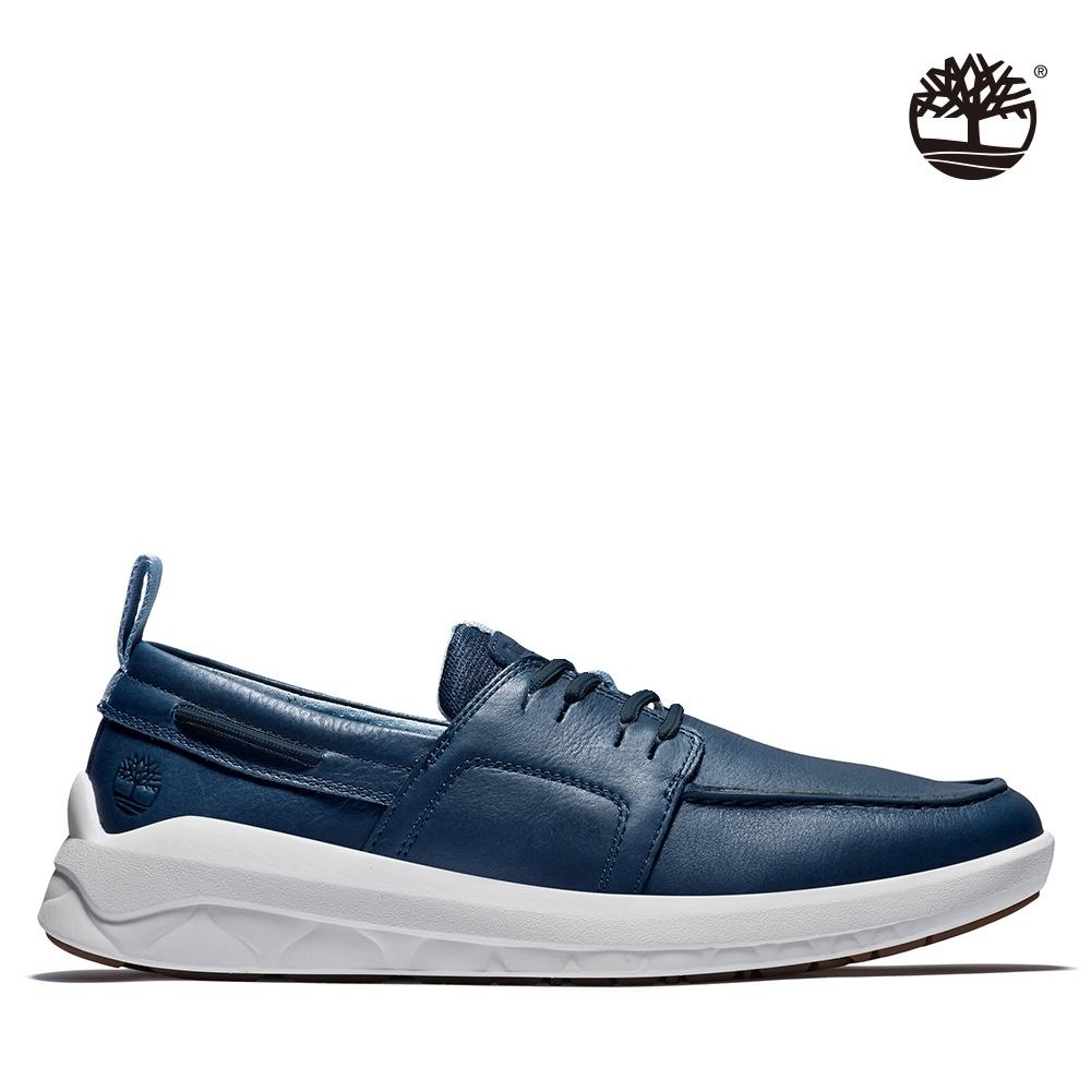 Timberland 男款海軍藍磨砂革帆船牛津鞋 A42FS