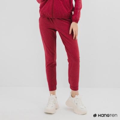 Hang Ten-女裝-恆溫多功能-REGULAR FIT標準四向彈力吸濕快乾抗曬運動長褲-紫紅色