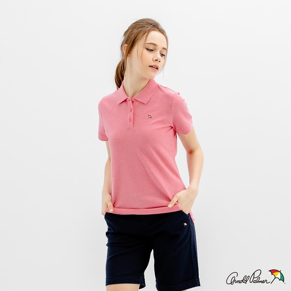 Arnold Palmer -女裝-花紗小傘polo衫-桃紅色