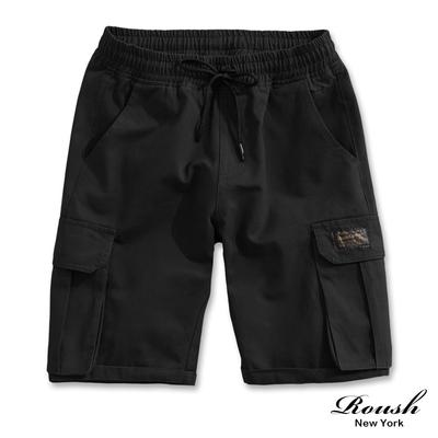Roush 原宿街頭潮流大口袋工裝短褲(3色)