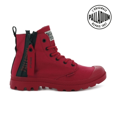 PALLADIUM PAMPA UNZIPPED拉鍊帆布靴-中性-紅
