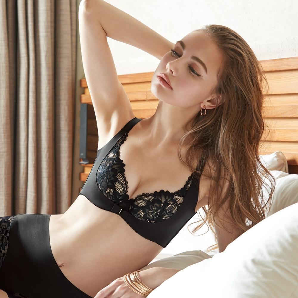 曼黛瑪璉 V極線內衣  E-F罩杯(黑)