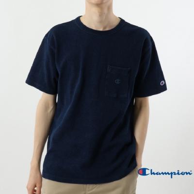 Champion Campus單寧色口袋短Tee 深藍色