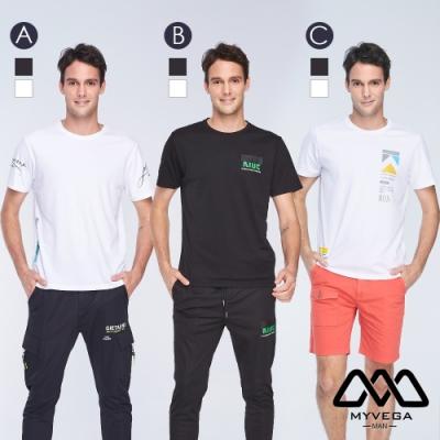 [時時樂限定] MYVEGA MAN街頭風短袖T恤-三款任選