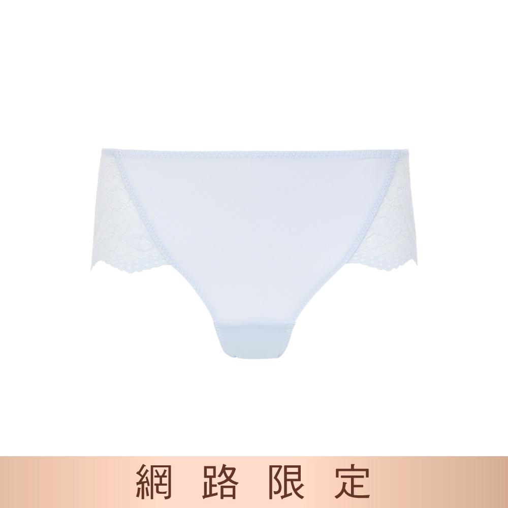 黛安芬-美型嚴選系列 中腰平口內褲 M-EL 甜蜜藍