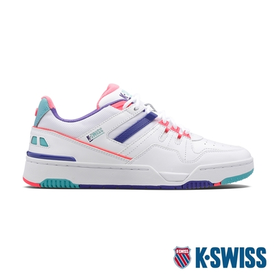 K-SWISS Match Rival時尚運動鞋-男-白/超桃氣粉紫/桃紅