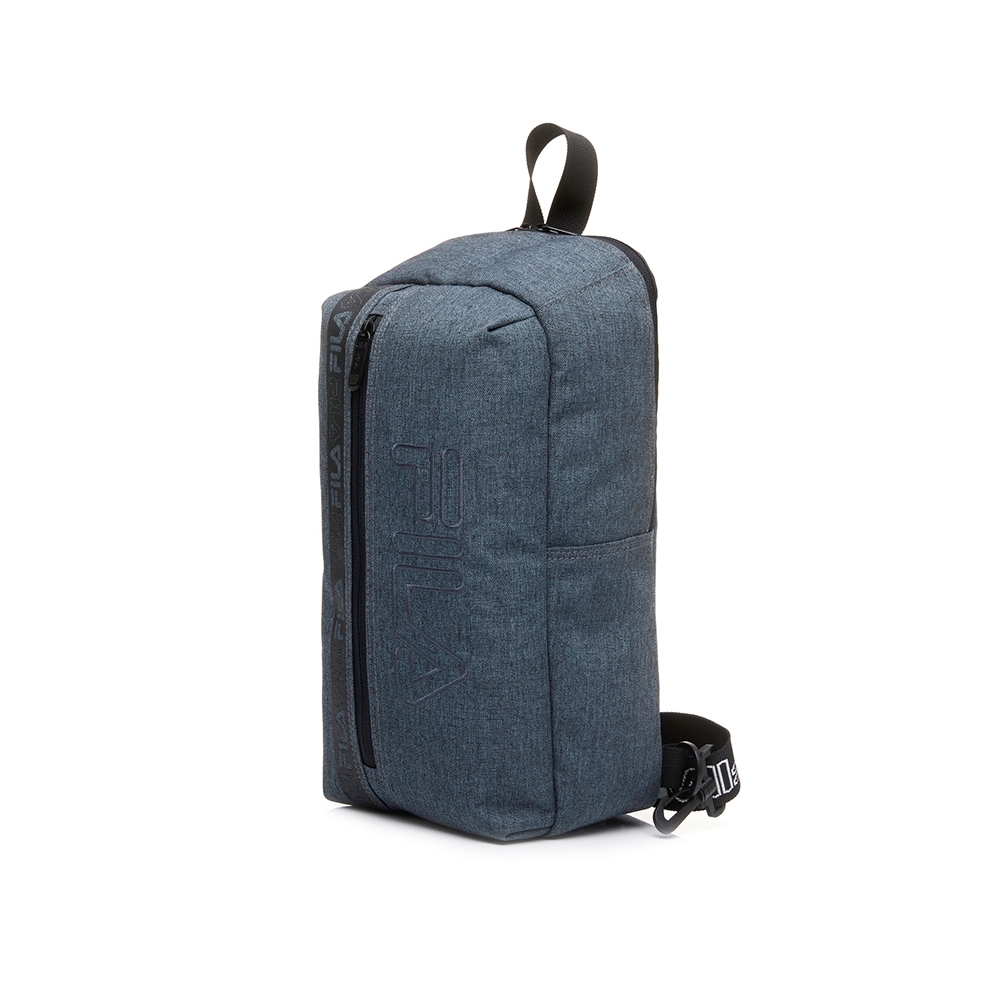 FILA 單肩後背包-黑灰 BPU-5204-RG