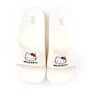HELLO KITTY 凱蒂貓女款 輕量防水拖鞋-白/粉 (918118)