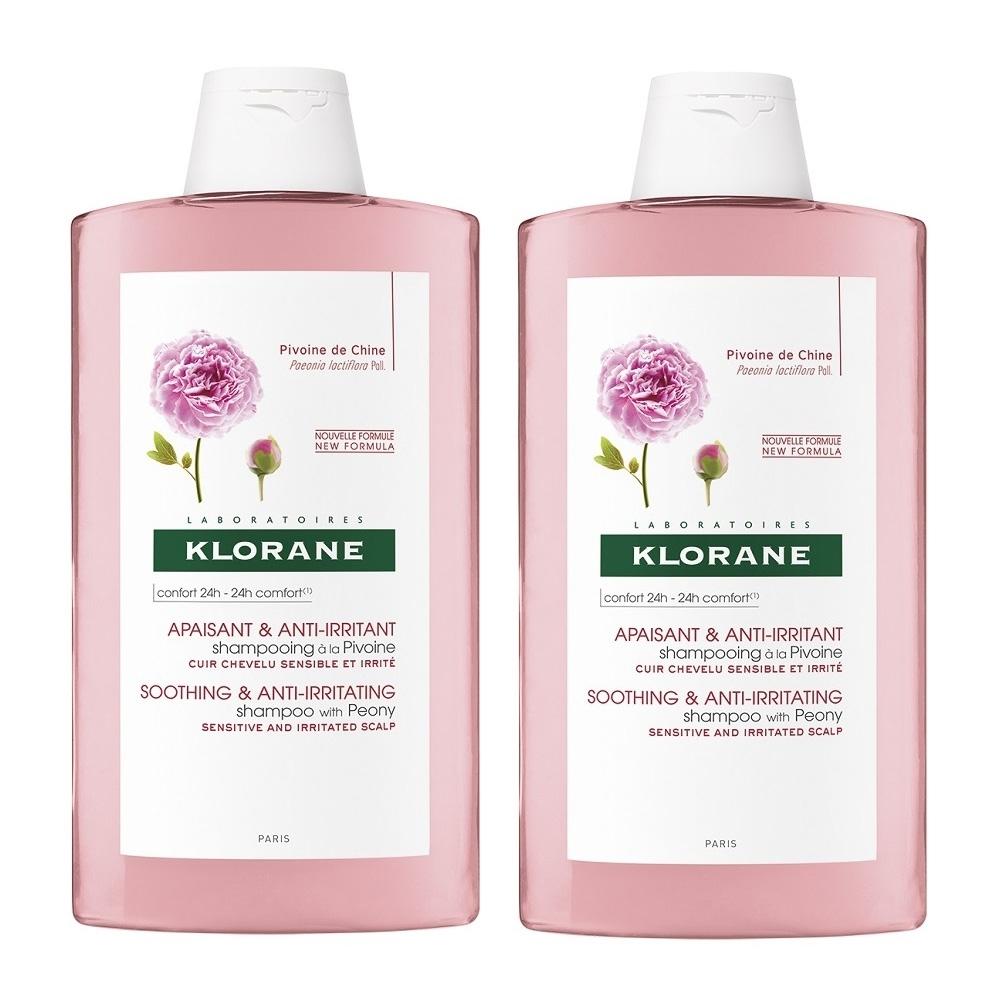 KLORANE蔻蘿蘭 速效舒敏洗髮精(400ml)2入特惠組