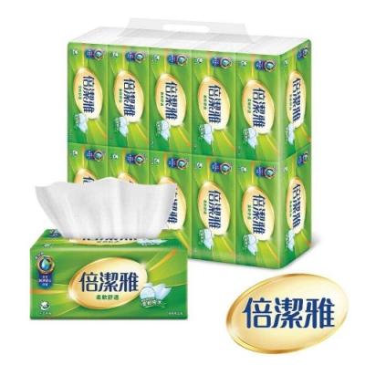 倍潔雅 柔軟舒適抽取式衛生紙150抽10包x6袋/箱