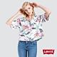 Levis 女款 中短版襯衫 夏日清新風 寬鬆落肩設計 product thumbnail 1