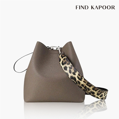 【FIND KAPOOR】PINGO 23 BASIC 豹紋系列 手提斜背水桶包- 可可棕