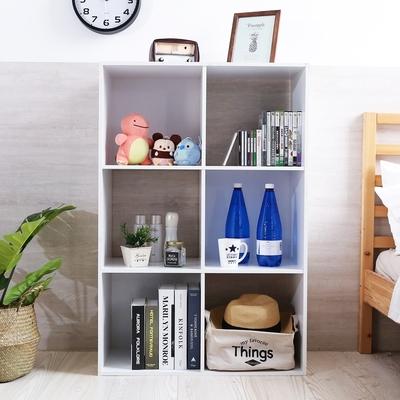 澄境 低甲醛開放6格書櫃/收納櫃/衣櫃70x33.5x104.5cm-DIY