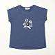 PIPPY 點點半立體花連袖上衣 藍 product thumbnail 1