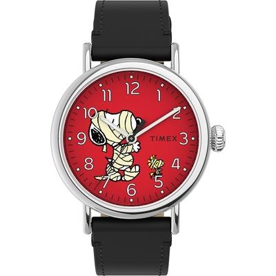 TIMEX 天美時 x SNOOPY 限量聯名系列可愛繃帶款手錶- 紅x黑/40mm