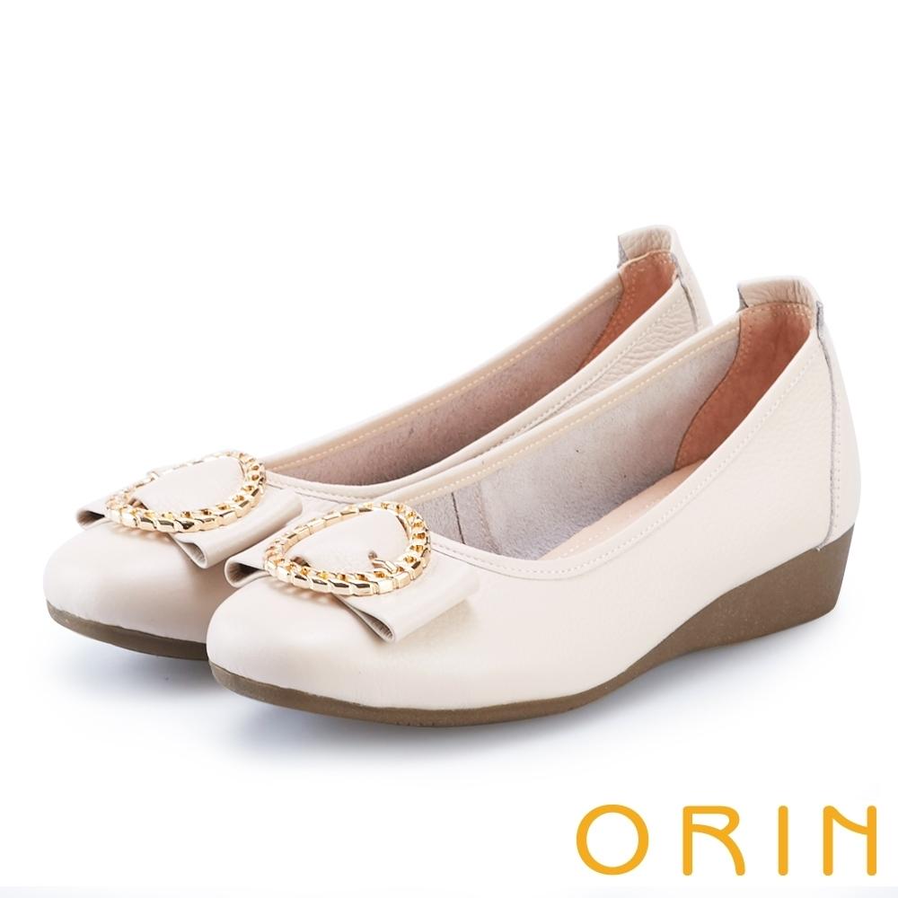 [今日限定] MAGY熱銷平底鞋均價1180 (G.質感交叉鍊環牛皮低跟鞋-裸色)