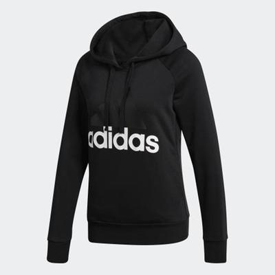 ADIDAS 女 Essentials連帽上衣 黑色-S97081