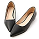 D+AF 典雅氛圍.韓風素面低跟尖頭鞋*黑 product thumbnail 1