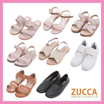 [時時樂限定] Zucca氣質休閒涼鞋款-八款任選